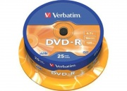 Диск DVD-R Verbatim 4.7Gb, 16x Cake box